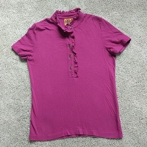 🥭 Purple Tory Burch Polo Shirt
